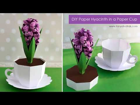 DIY Paper Hyacinth in a Paper Cup Box