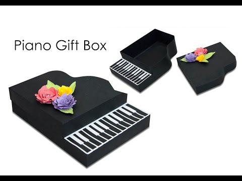 Piano Gift Box SVG Cut File