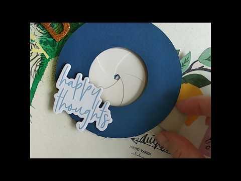 DIY Paper Iris Shutter for Scrapbook Layout