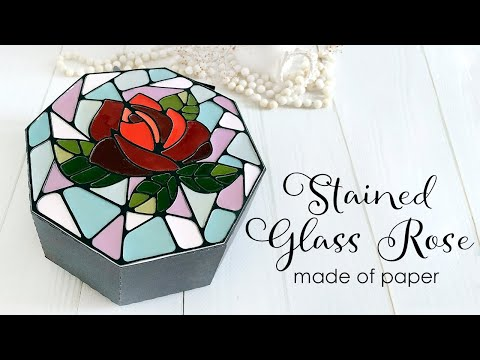 How to make paper look like stained glass