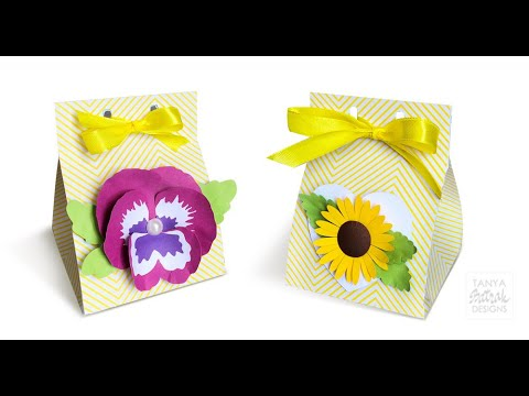 DIY Milk Carton Gift Boxes with 3D Flowers