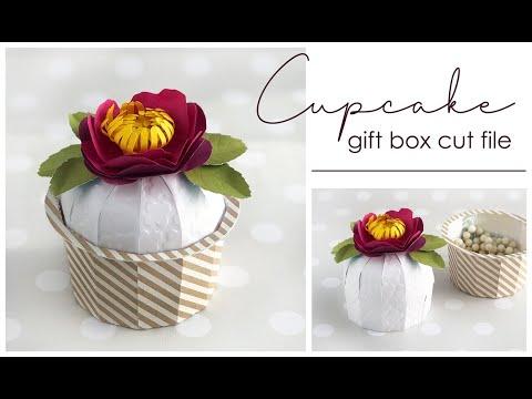 Cupcake Shaped Gift Box