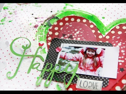 Be happy! (scrapbooking layout)