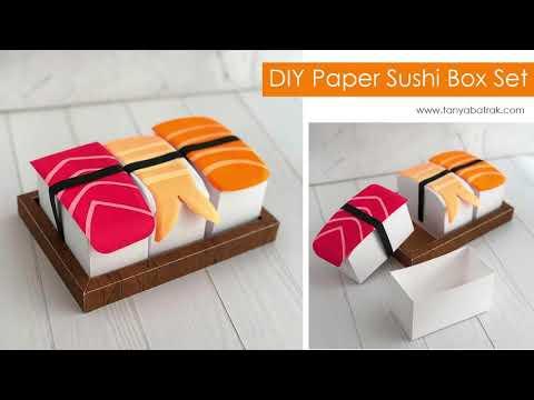 DIY Paper Sushi Boxes