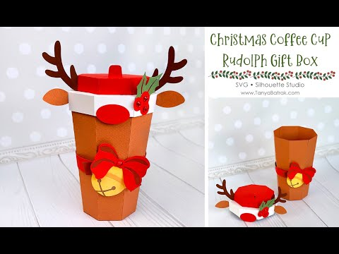 DIY Christmas Rudolph Coffee Cup Gift Box