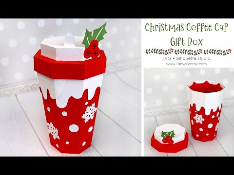 DIY Christmas Coffee Cup Gift Box