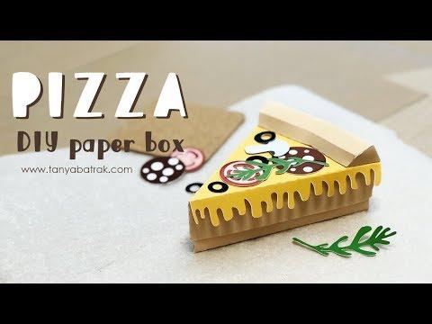 DIY Paper Pizza Slice Box