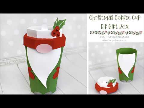 DIY Christmas Elf Coffee Cup Gift Box