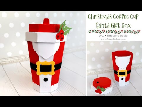DIY Santa Coffee Cup Gift Box