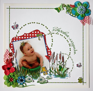 Little princess scrapbook layout