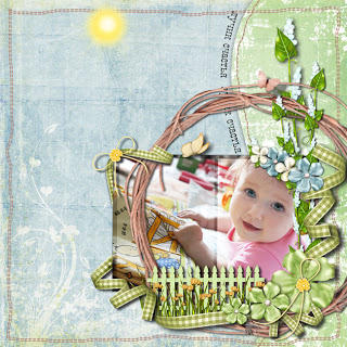 First digital scrapbook layout