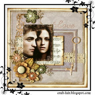 Twilight themed scrapbook layout