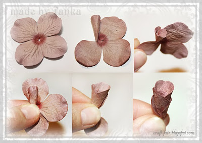 DIY paper flower for scrapbook