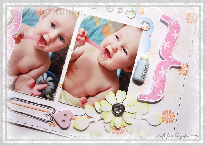 diy baby scrapbook layout