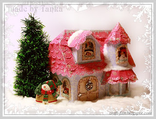 DIY Christmas paper house