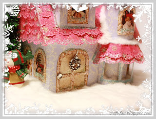 DIY Christmas miniature paper house