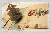 Christmas scrapbook album with pop up elements