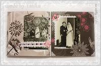 DIY wedding scrapbook album