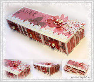 DIY paper box with the drawers
