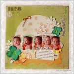 Scrapbook Layout with Multiple Photos