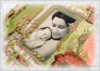 baby scrapbook layout idea