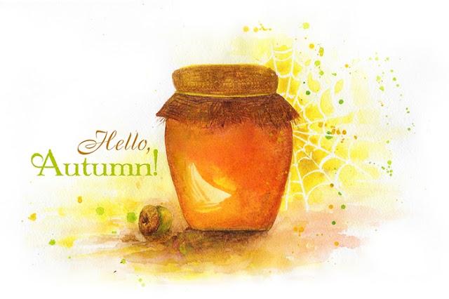 """Hello, Autumn"" watercolor"