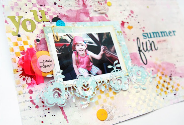 Bright Mixed-Media Scrapbook Layout