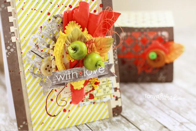 DIY Beautiful Fall Card with apples