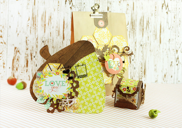 Colorful Autumn Card and Gift Box