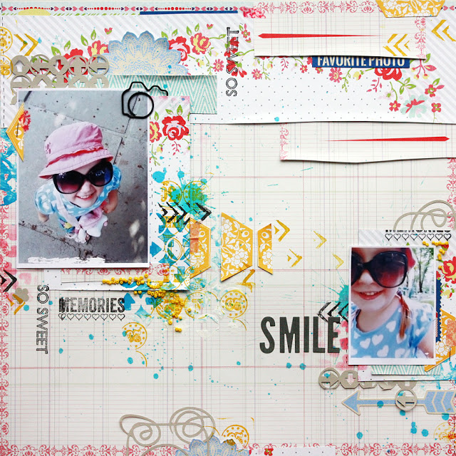 Bright and Funny Scrapbook Layout