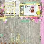 Winter Scrapbook Layout