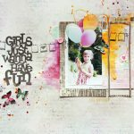 Mixed Media Scrapbook Layout - Fun