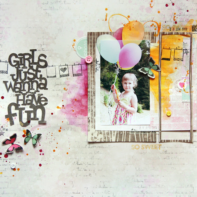 Mixed Media Scrapbook Layout – Fun