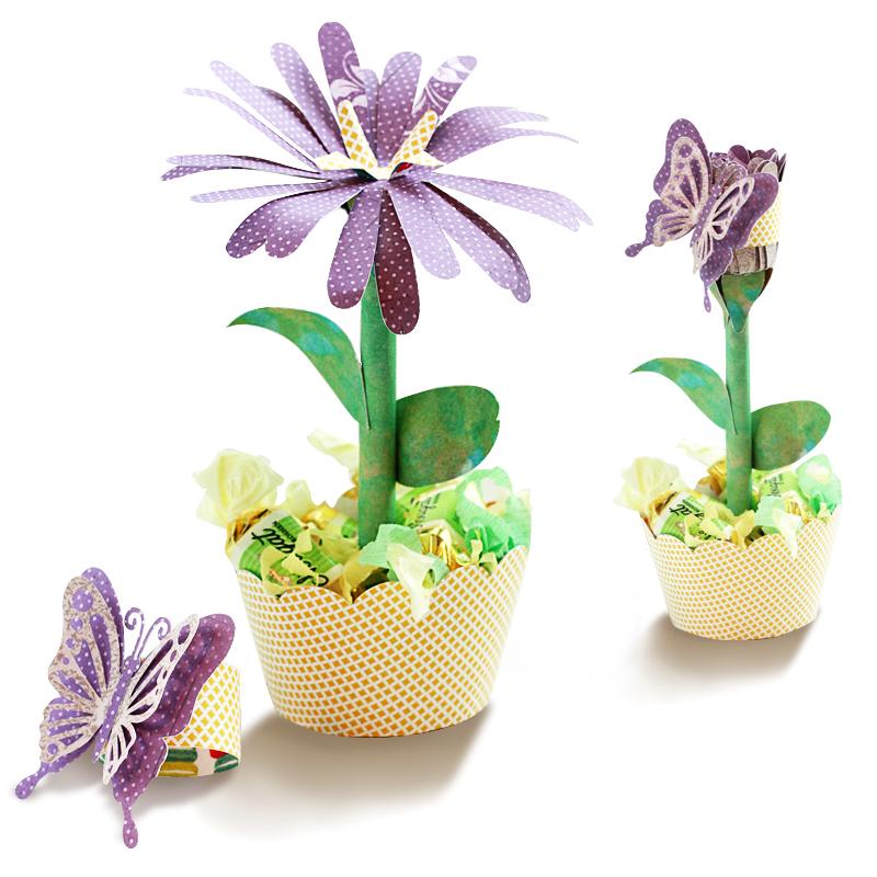 3D Flower in a Pot Cut File