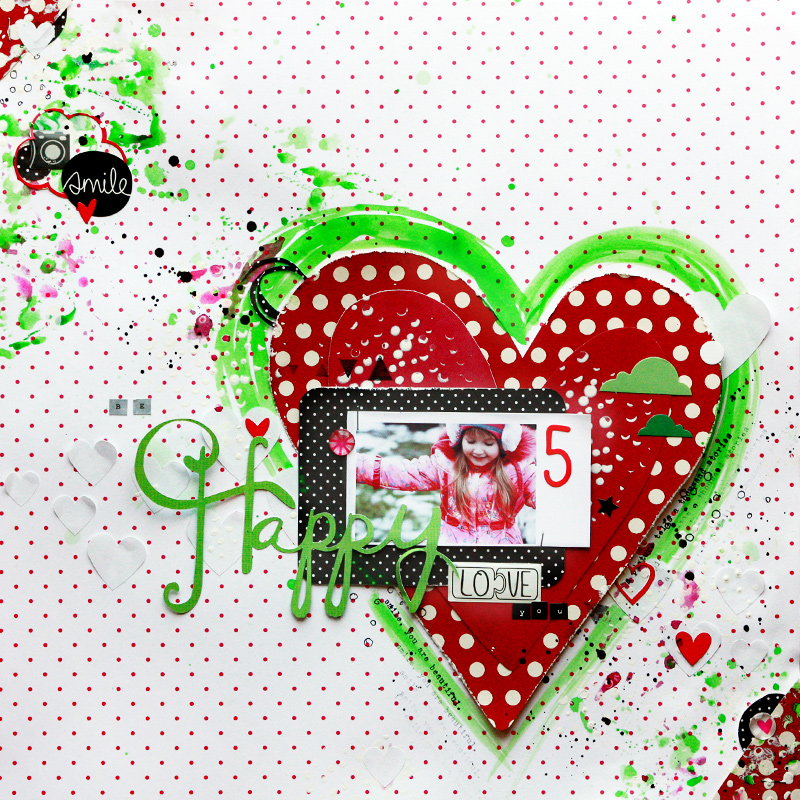 Mixed Media Scrapbook Layout Video Tutorial