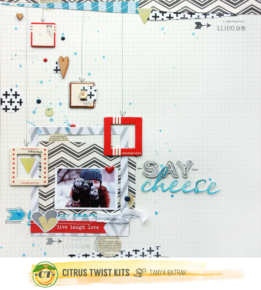 Freestyle Scrapbook Layout