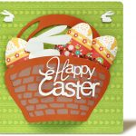 Easter Card with 3D Busket Cut File