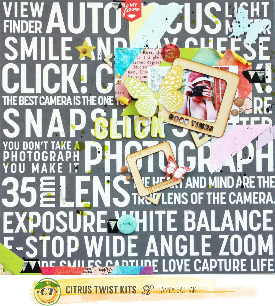 Click – Scrapbook Layout