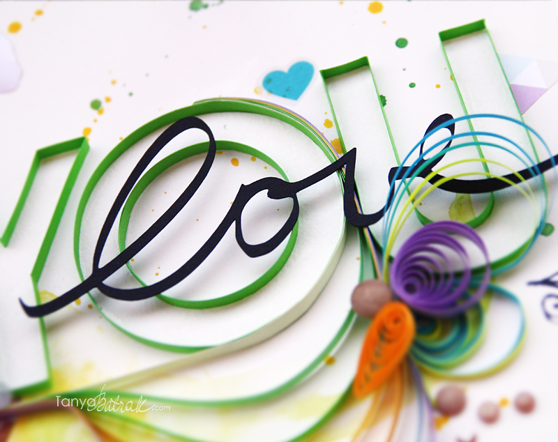 My First Scrapbook Layout with Quilling