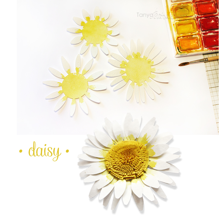 DIY paper daisy cut file