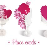 Wedding Place Cards Cut Files