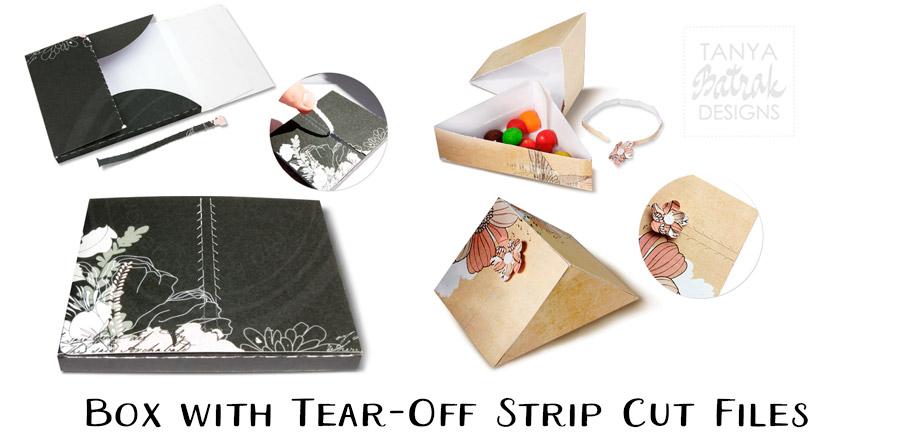 Box with Tear-Off Strip Cut Files
