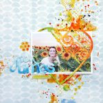 Bright Summer Scrapbook Layout