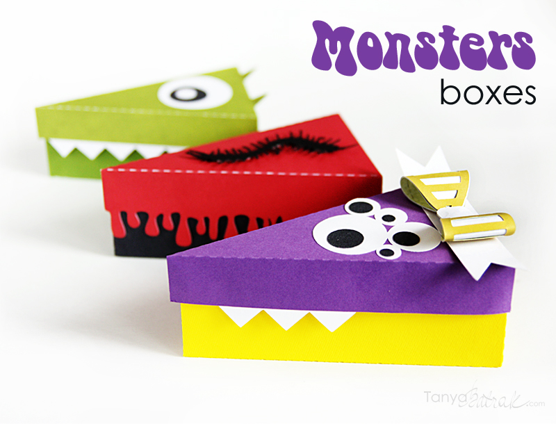 Monster Gift Boxes Cut Files