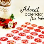 Free Labels for Advent Calendar