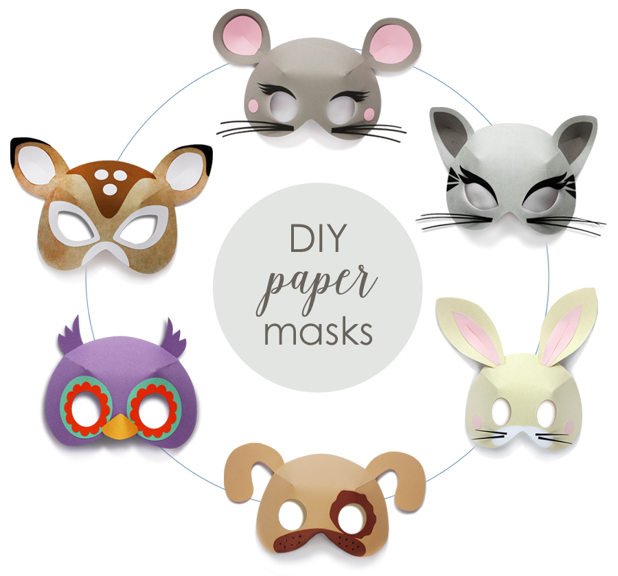 DIY 3D Paper Masks