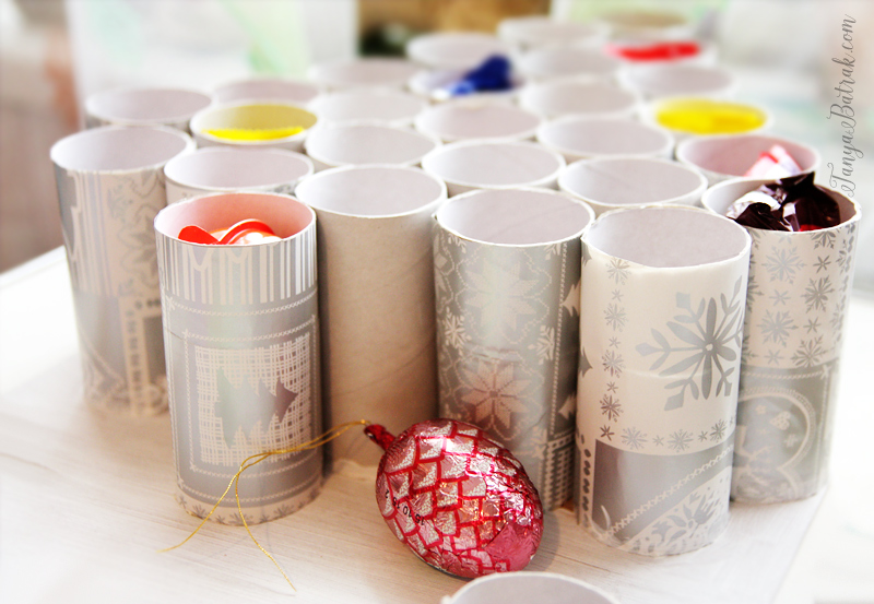 DIY Advent Calendar Made from Upcycled Kitchen Roll Tubes