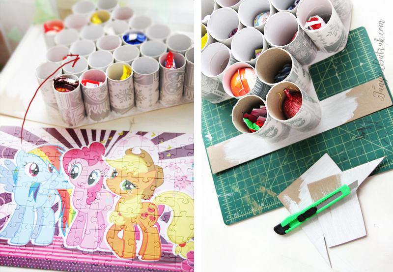 DIY Advent Calendar Made from Toilet paper Tubes