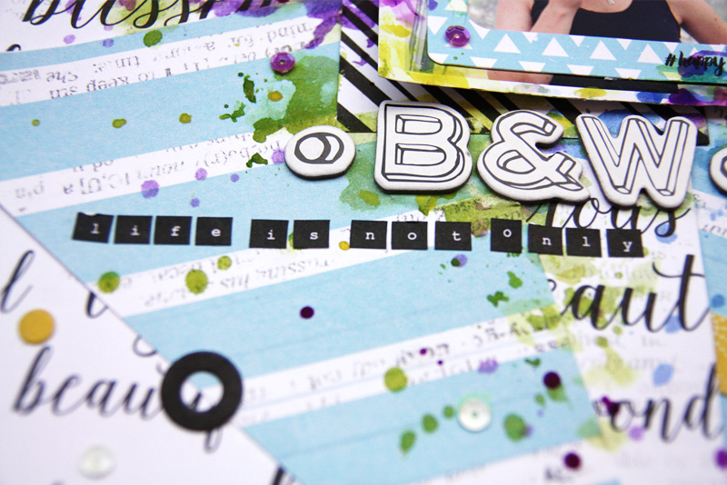 Funny scrapbook layout tutorial