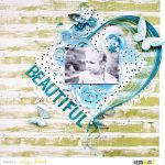 Elegant Scrapbook Layout with Quilling Elements